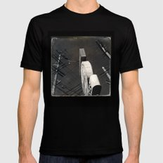 The Wizz take 2, Black and White San Francisco MEDIUM Black Mens Fitted Tee