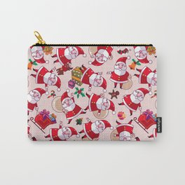 Santa Gift Pattern Carry-All Pouch