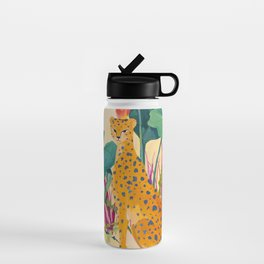 Cheetah and Apples Water Bottle