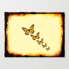 Rustic Butterflies Canvas Print