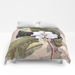 Vintage White Magnolia Comforters