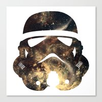 stormtrooper Canvas Prints featuring Stormtrooper by Benedikte