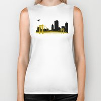 pittsburgh Biker Tanks featuring Pittsburgh Browncoats by Caroline Moore