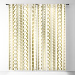 Tribal Stripes Gold Blackout Curtain