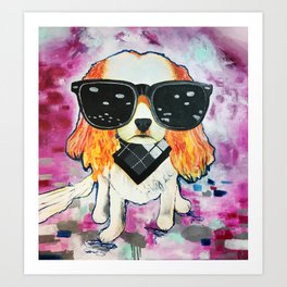 Puppy Pop 2 Art Print