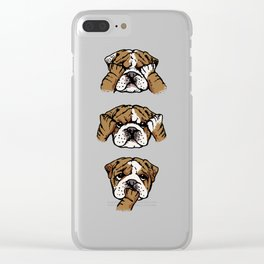 No Evil English Bulldog Clear iPhone Case