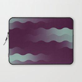Mint Plum Gradient Wave Laptop Sleeve