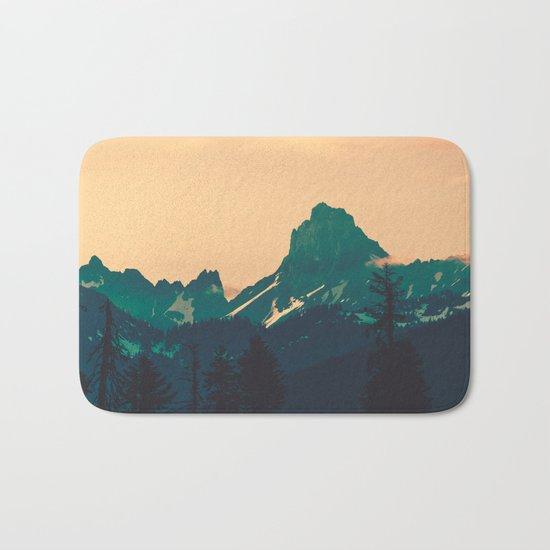 Cascade Mountains Sunset Bath Mat