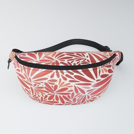 Red flower petals pattern Fanny Pack