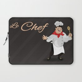 Le Chef Kitchen decor French chef with a mustache cartoon character illustration Laptop Sleeve
