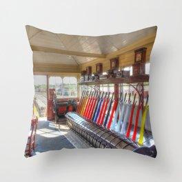 Signal Box Throw Pillow
