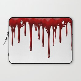 Blood Dripping White Laptop Sleeve