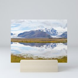 Iceland Mountain Landscape Panorama Mini Art Print