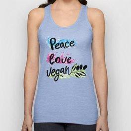 Peace love vegan Unisex Tank Top