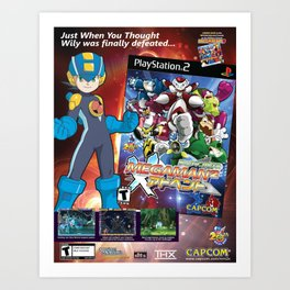 MegaMan 2 Promo Poster Art Print