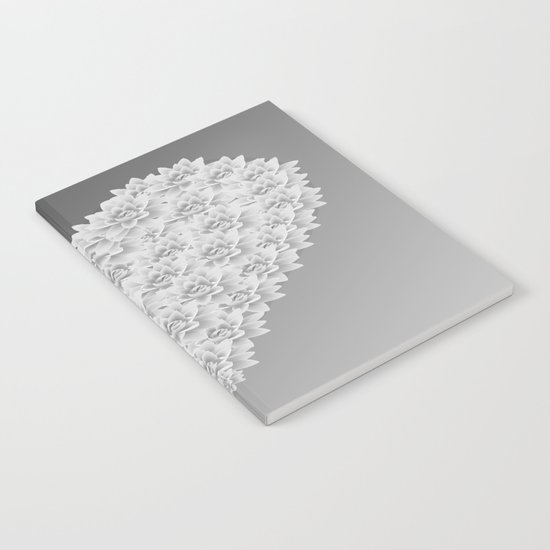 White heart Notebook