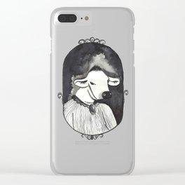 Victorian Bovine Clear iPhone Case