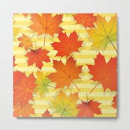 Autumn Colorful Maple Leaves Metal Print