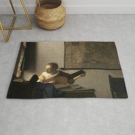 Vermeer,Woman with a Lute,Mujer con laúd, De luitspeelster Rug