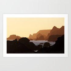 Oregon Coast. Art Print
