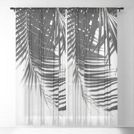 Palm Leaves Black & White Vibes #1 #tropical #decor #art #society6 Sheer Curtain