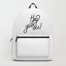 Hey gib ois!   [black] Backpack