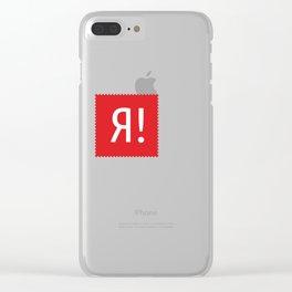 Stamp series - Ya! Clear iPhone Case