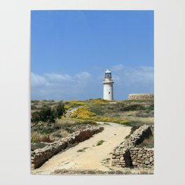 Lighthouse in Paphos Poster