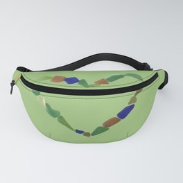 And the Greatest of These is Love #heart #seaglasssmiles Fanny Pack