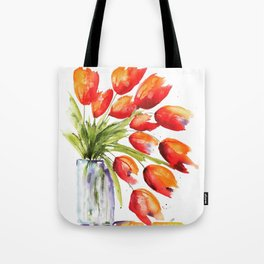 Tulips Overflowing Tote Bag