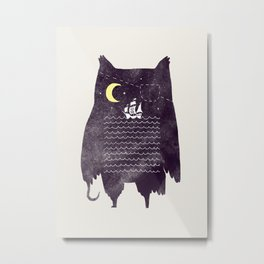 Pirate owl Metal Print