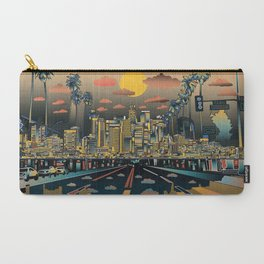 los angeles city skyline Carry-All Pouch