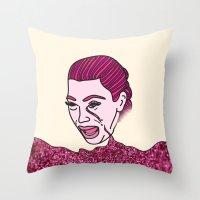 kardashian Throw Pillows featuring Kim Krying by MODERN UNDERGROUND