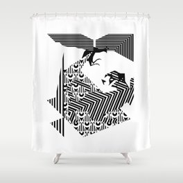 fray Shower Curtain