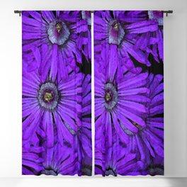 Purple succulent flowers watercolor effect Blackout Curtain