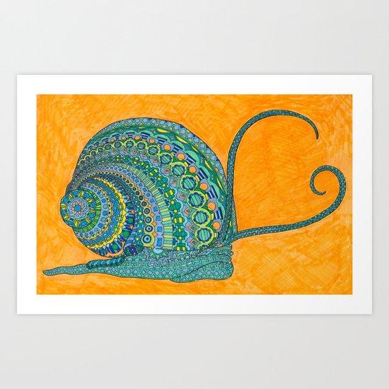 Swirly Snail Art Print