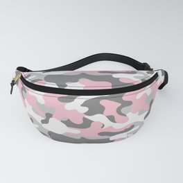 Military Camouflage Pattern, Army - Pink Fanny Pack