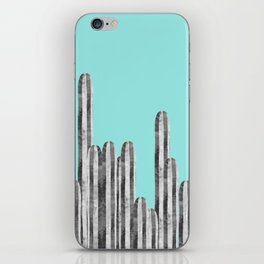 Watercolor of cacti XVII iPhone Skin