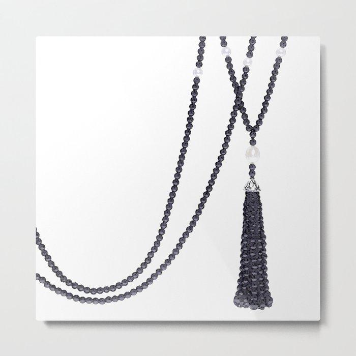 Black Pearls Metal Print