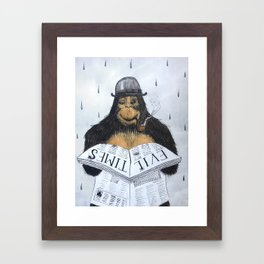 Read No Evil Framed Art Print