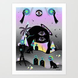 One night on Jupiter Art Print