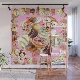 PINK & VANILLA PASTY INDULGENCE ART Wall Mural