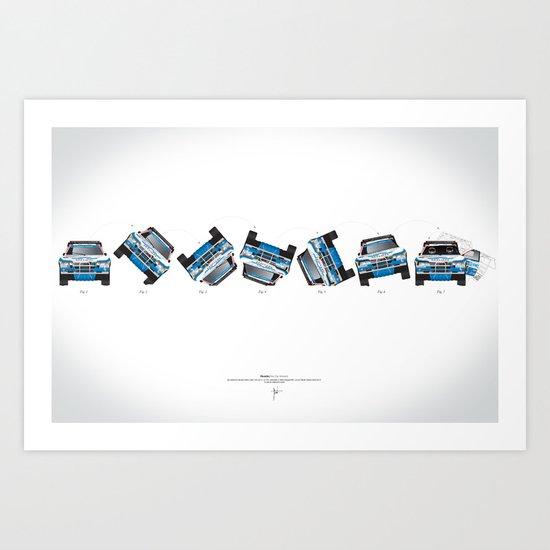 Ari Vatanen-Bruno Berglund, 1989 Paris Dakar crash sequence Art Print