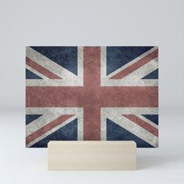 UK Flag, Retro Desaturated Mini Art Print