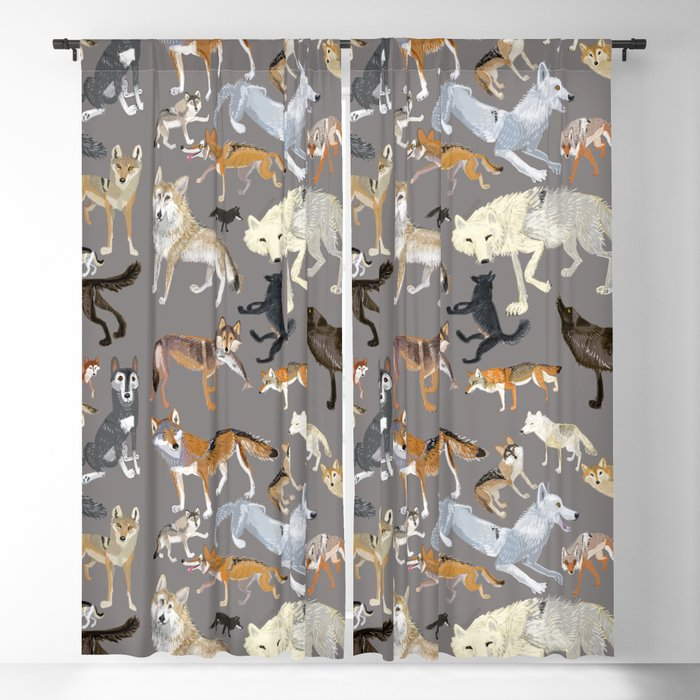 Wolves of the world 1 Blackout Curtain