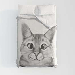 coffee cat Comforters