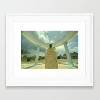 hemingway Framed Art Prints featuring Hemingway Memorial  by Rob Hawkins Photography