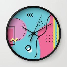 memphis 2/3 Wall Clock