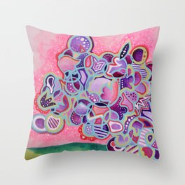 Radioactive Cactus Throw Pillow