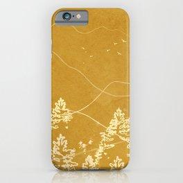 Minimalist Landscape Line Art III iPhone Case